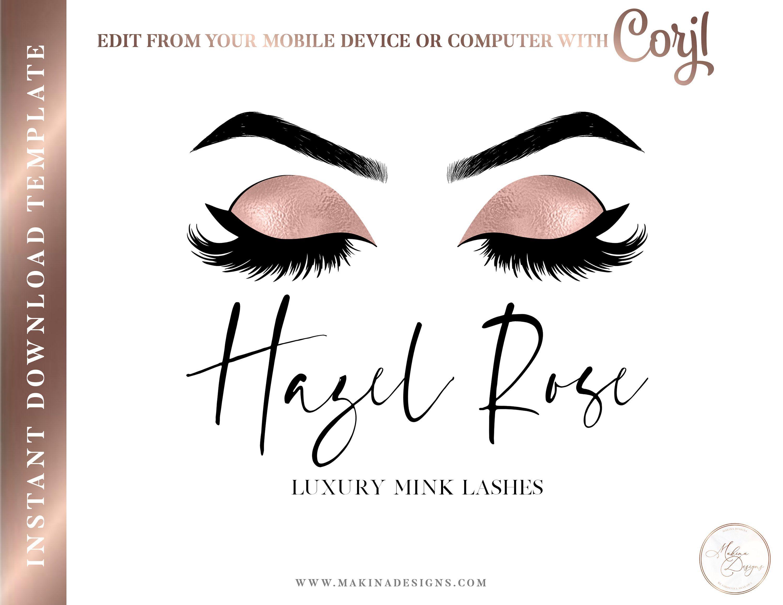 EYELASH LOGO DESIGN, Eyelashes Logo, Logo design, Logo