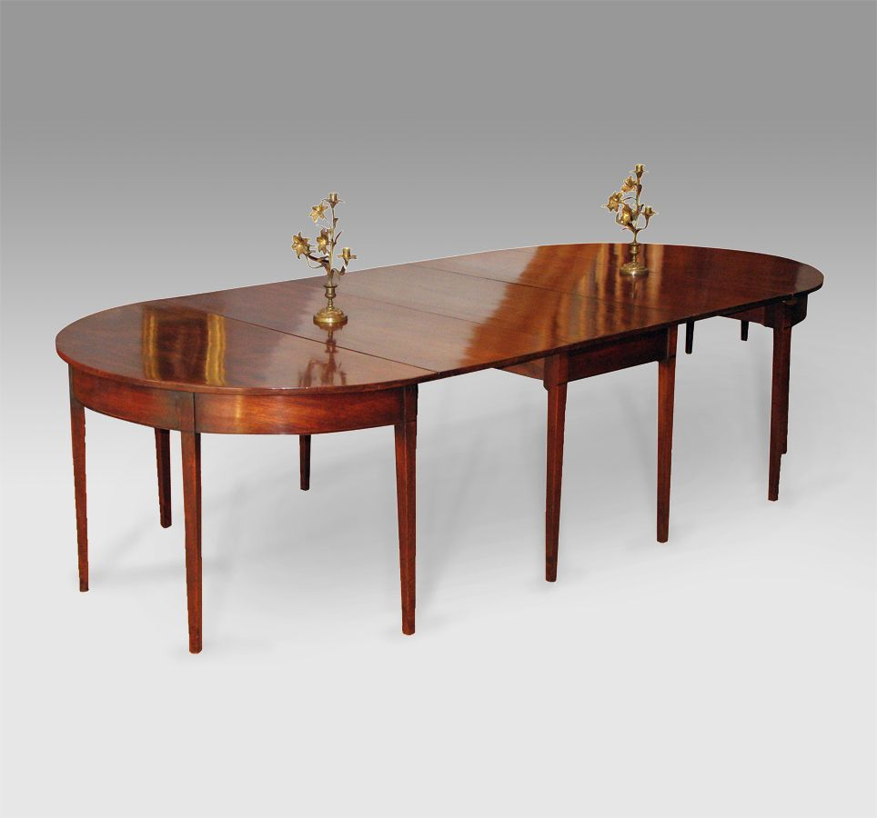 George iii mahogany d end dining table solid figured for Good dining table