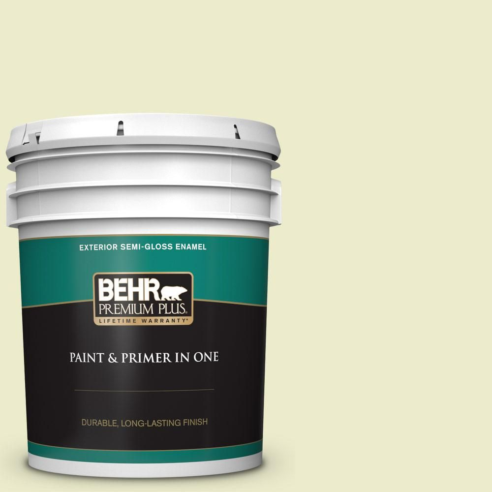 Behr Premium Plus 5 Gal P360 2 Iced Green Apple Semi Gloss Enamel Exterior Paint And Primer In One Exterior Paint Behr Interior Paint
