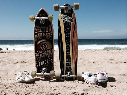 His and hers longboards and Converse.