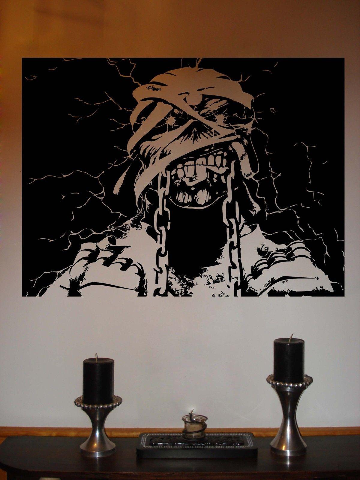 ebay iron maiden eddie powerslave metal music vinyl wall sticker ebay iron maiden eddie powerslave metal music vinyl wall sticker decal