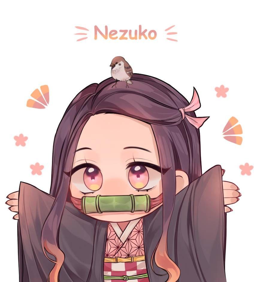 Nezuko By Chaichei On Deviantart Cute Anime Chibi Anime Chibi Anime Demon