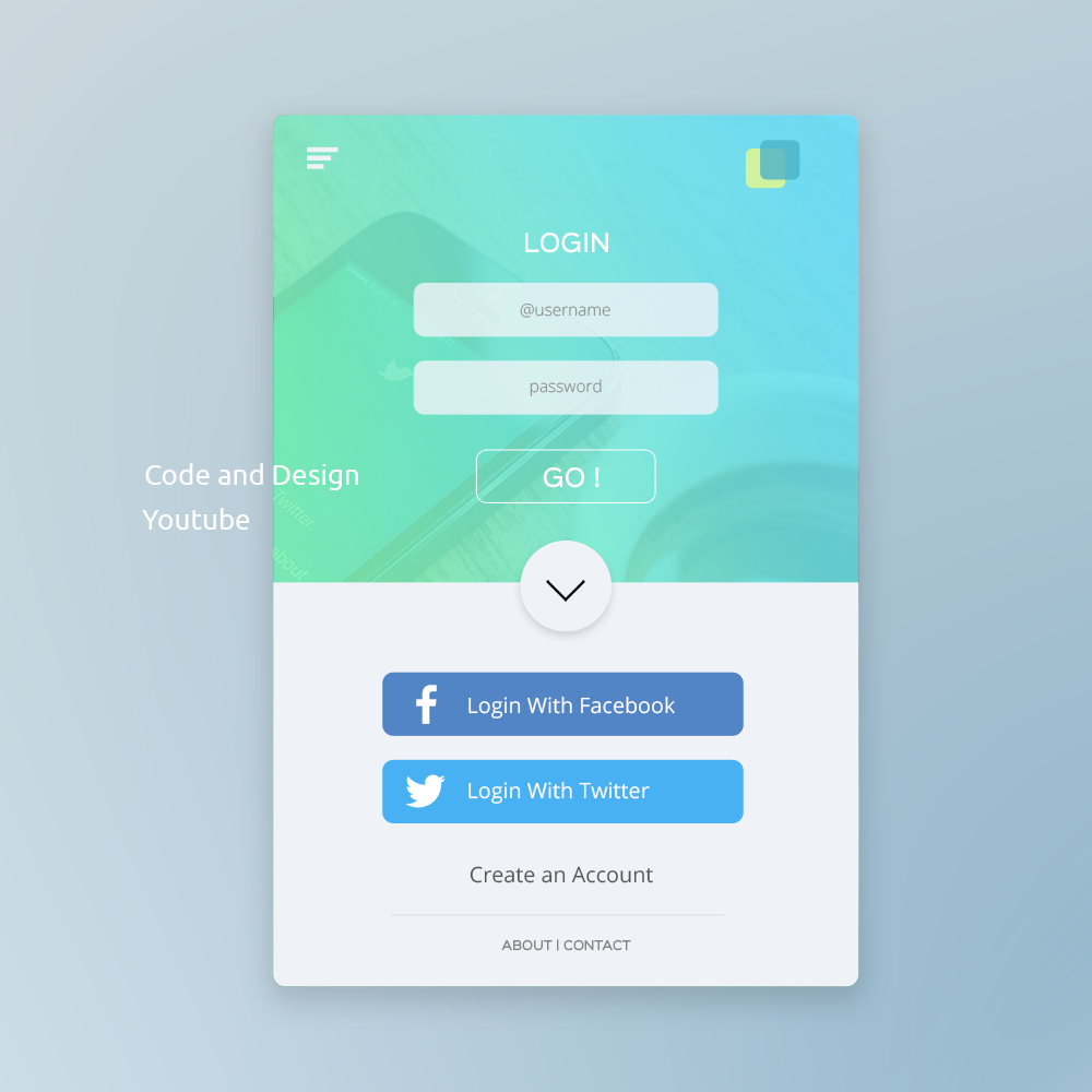 UI Design tutorial in Photoshop : Mobile app login Page ...