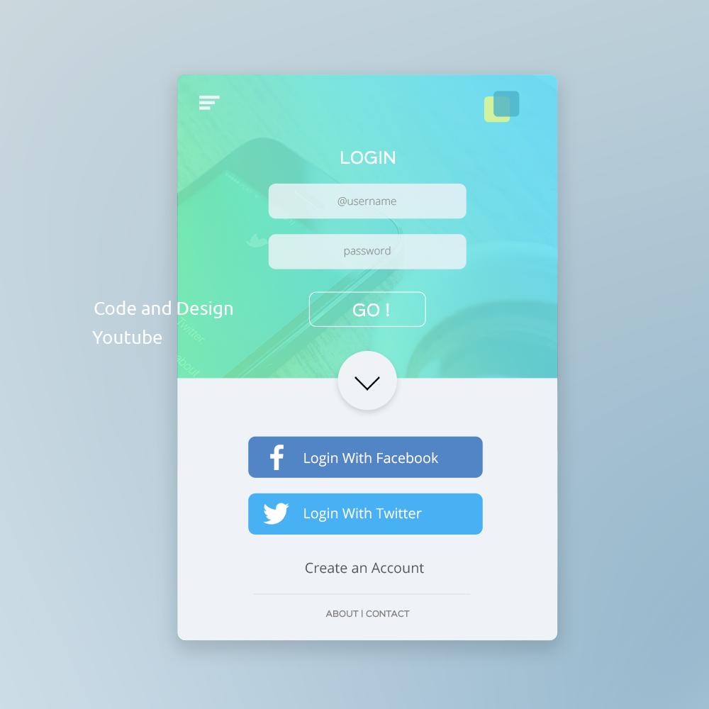 UI Design tutorial in Photoshop : Mobile app login Page Design fro ...