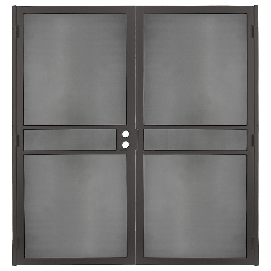 Gatehouse Pasadena Bronze Steel Surface Mount Double Security Door (Common:  64 In X 81 In; Actual: 66.75 In X 81.75 In)