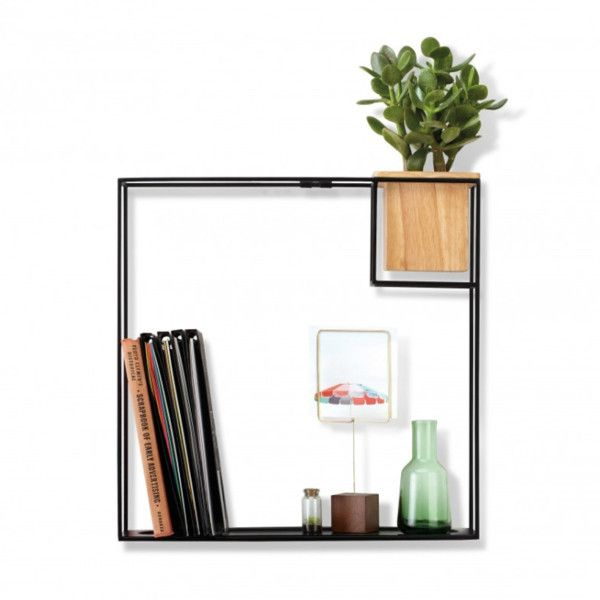 Wall Decor Boxes Black Cube Box Shelf With Planter $63 ❤ Liked On Polyvore