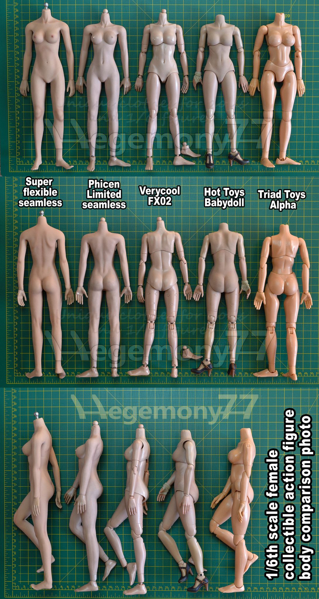 1 6th Scale Female Collectible Action Figure Body Size And Skin