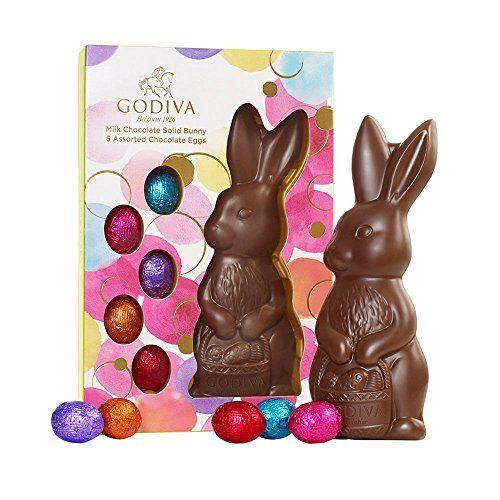 Godiva chocolatier milk chocolate solid bunny with foil eggs godiva chocolate negle Images