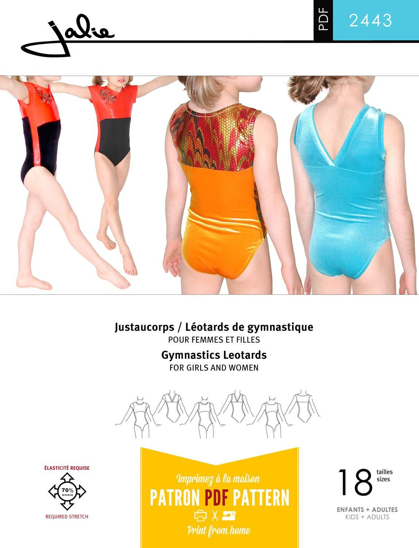 Jalie 2443 - Gymnastics Leotards PDF Pattern | turnpakjes | Pinterest