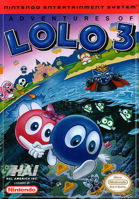 Adventures Of Lolo 3 Nintendo Nes Game Tested And Working