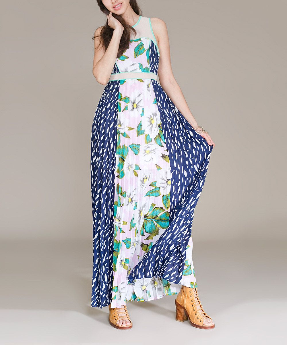 Jealous tomato teal u blue floral maxi dress zulily fashion