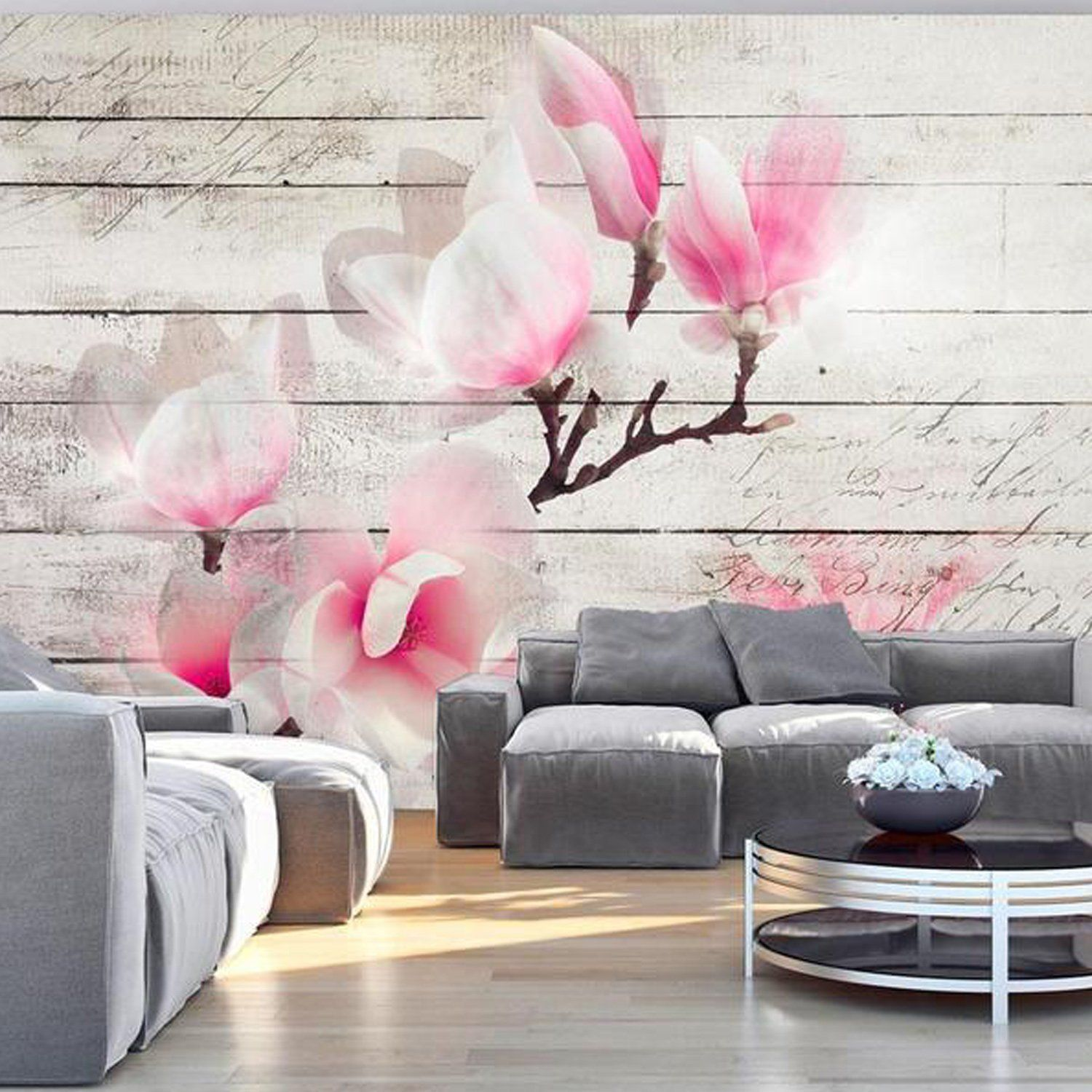 Magnolia flower mural wallpaper. 3d wallpaper floral and