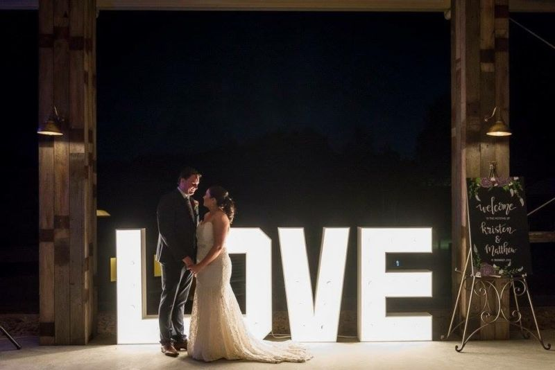 giant love marquee letter lights for hire party hire gumtree