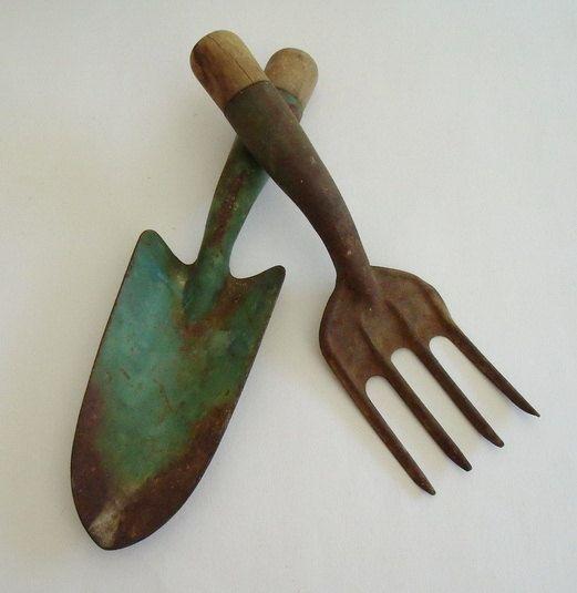 SUMMER SALE Vintage Garden Tools Trdgrdar Vintage och
