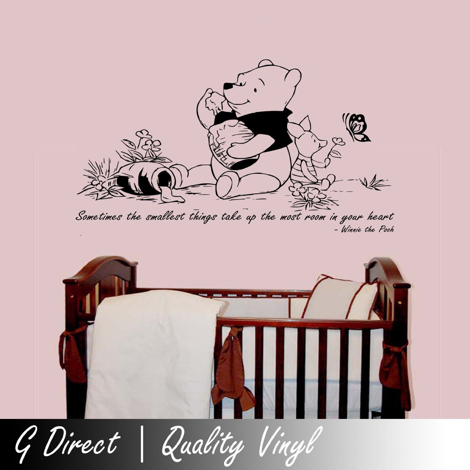 winnie the pooh kids nursery wall sticker quote bedroom inspiring