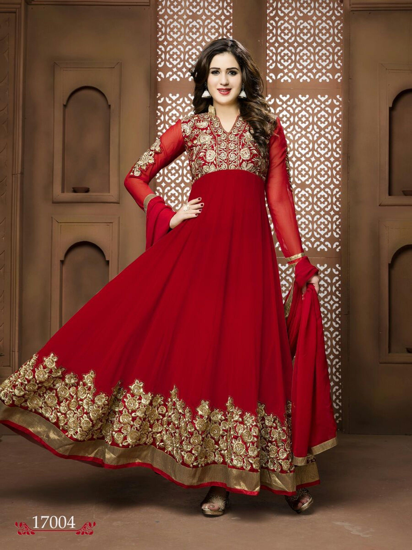 bbbe8d2c8 Buy Apparels- Red Colour Georgette Designer Anarkali Suit