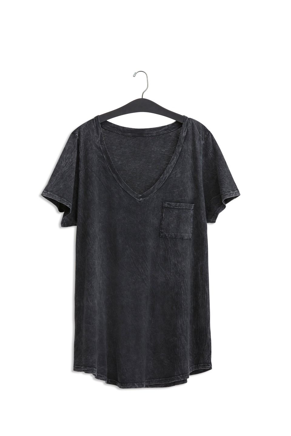 84ecb752d8f Premium Black Mineral Wash V-Neck Tee  Plus Size Clothing   TORRID ...