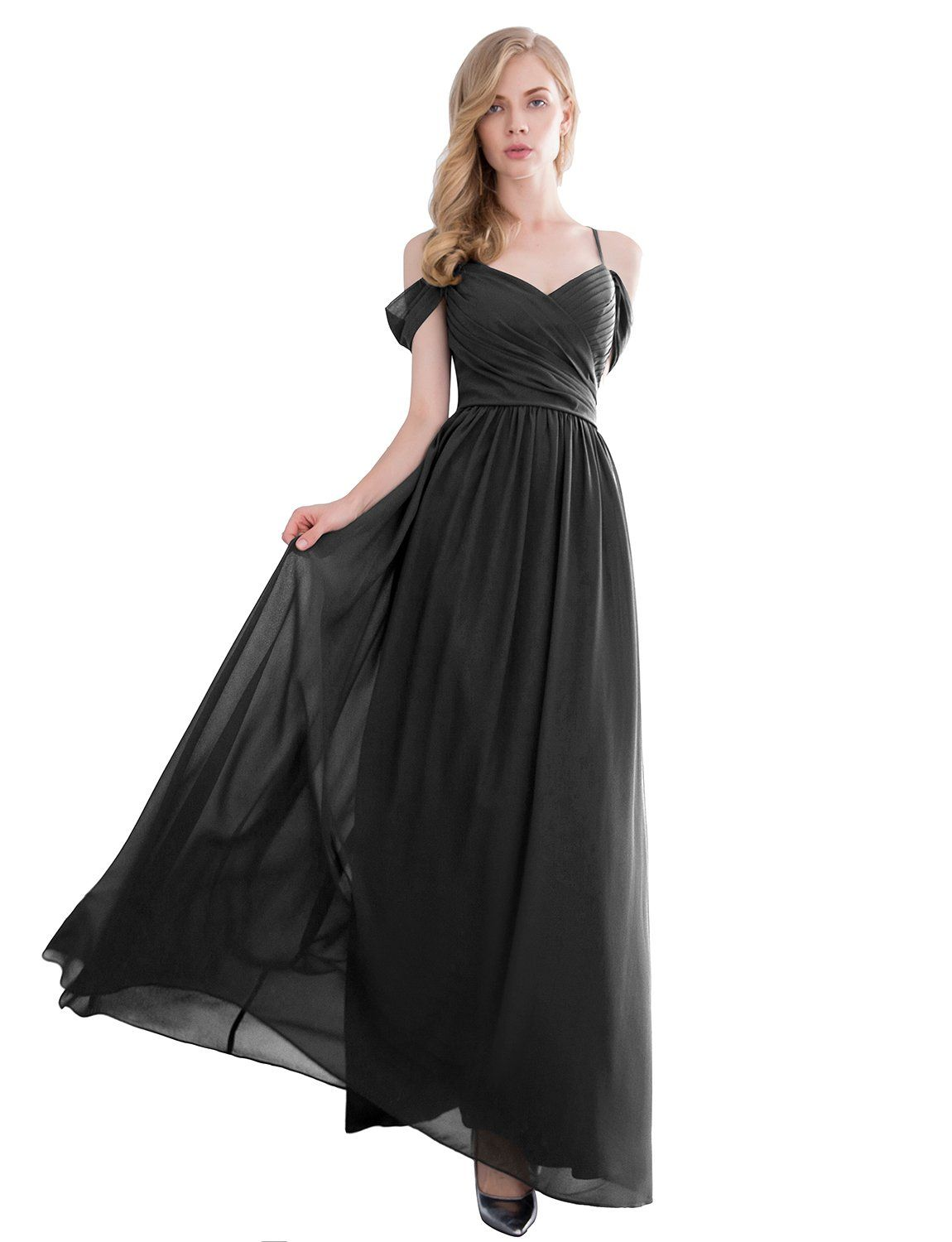 Gardenwed gorgeous off the shoulder long prom dress chiffon