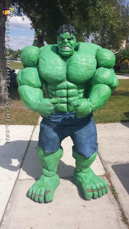 Hulk costume liquid latex
