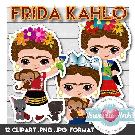 Frida Kahlo Clipart Instant Download Png Jpeg File 300 Dpi Etsy Frida Kahlo Clip Art Frida Kahlo Art