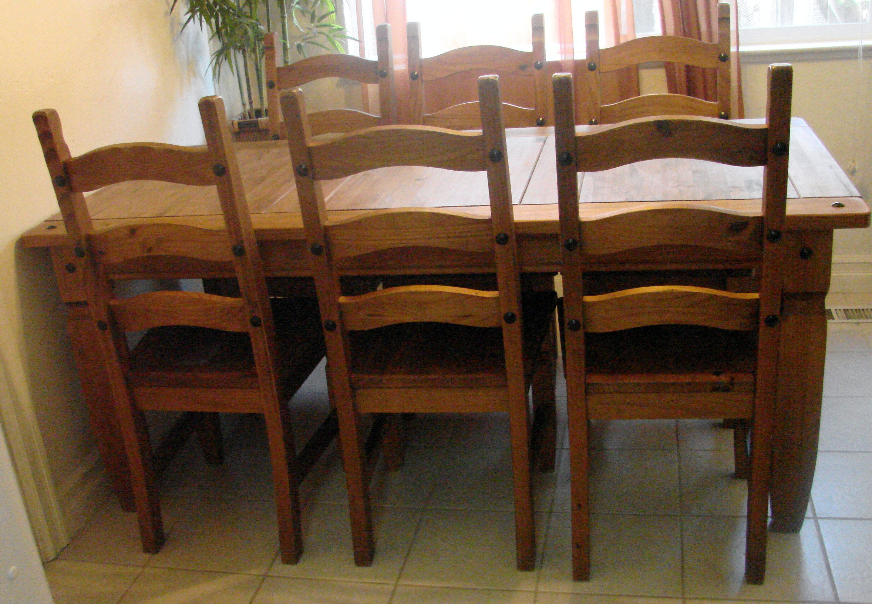 Four Ladderback Clore Dining Chairs