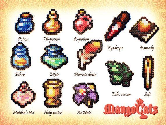 Final Fantasy Gear Pixel Art