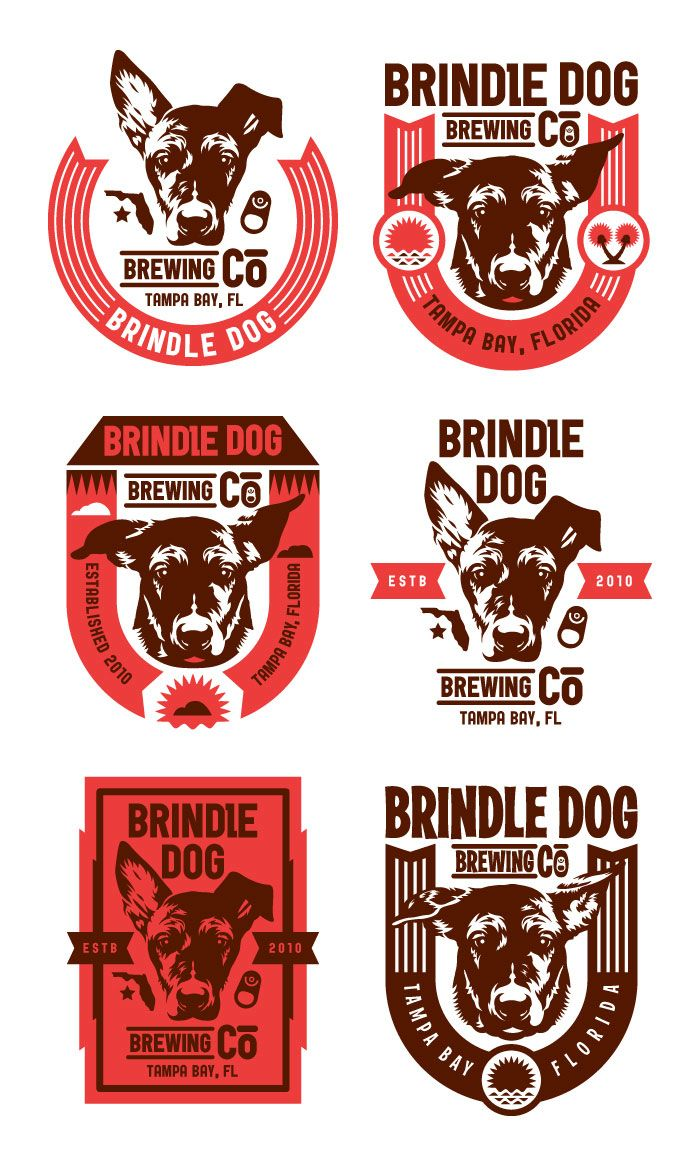 Concept Brindle Dog Brewery S Graphic Design Logo Brewery Logos Graphic Design Collection