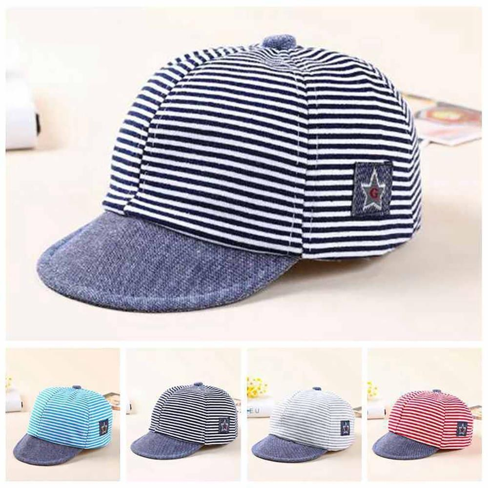 7f20d3341ab  2.56 - Baby Baseball Cap Toddler Kids Striped Star Flat Hat Boys Girls Hip  Hop Snapback  ebay  Fashion