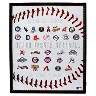 MLB Logos Canvas Wall Art
