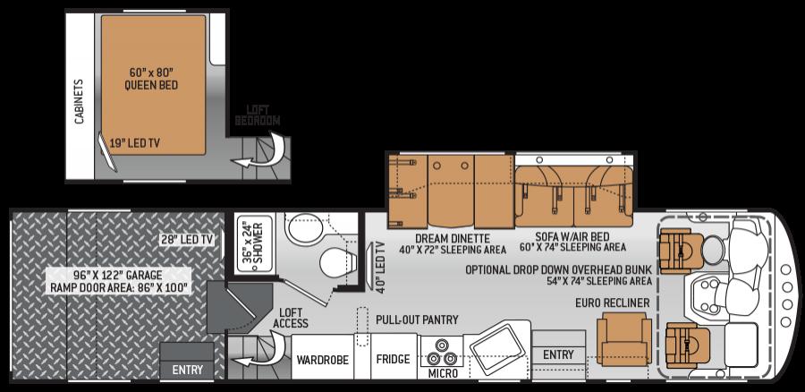 Class C Toy Hauler Floor Plans
