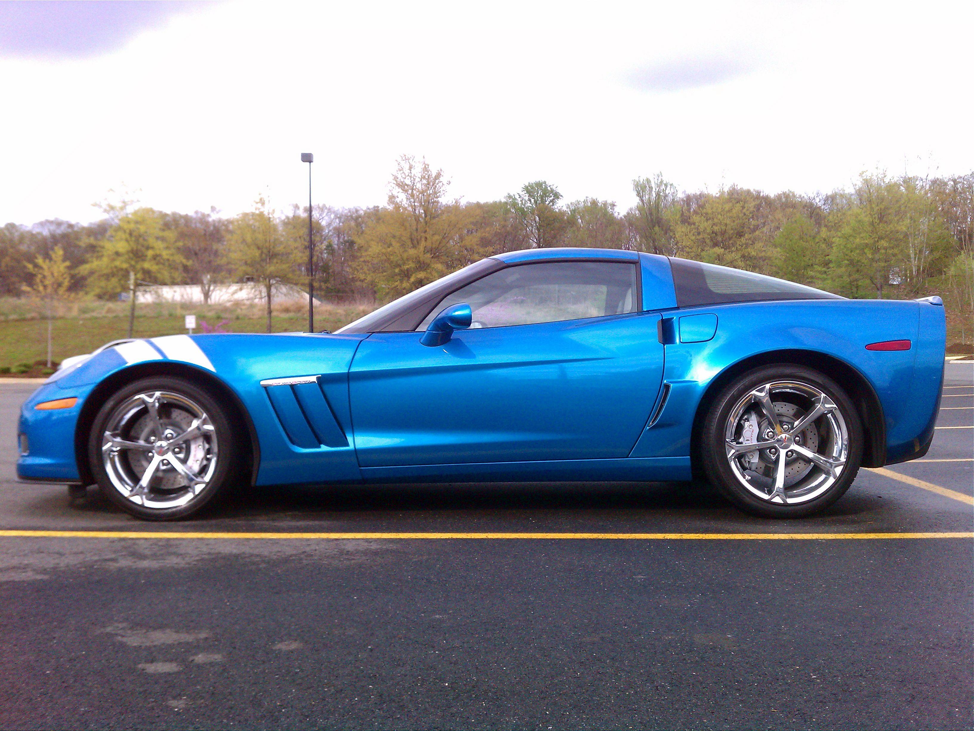 My 2010 Corvette Grand Sport In Jet Stream Blue A Discontinued Color As Of 2011 2010 Corvette Corvette Grand Sport Corvette Summer