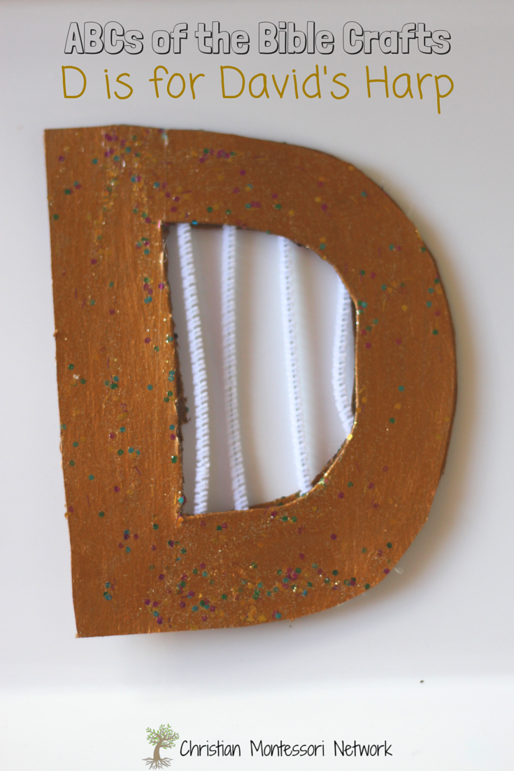 Bible Craft Ideas For Kids Part - 32: ABCs Of The Bible Crafts: D Is For Davidu0027s Harp