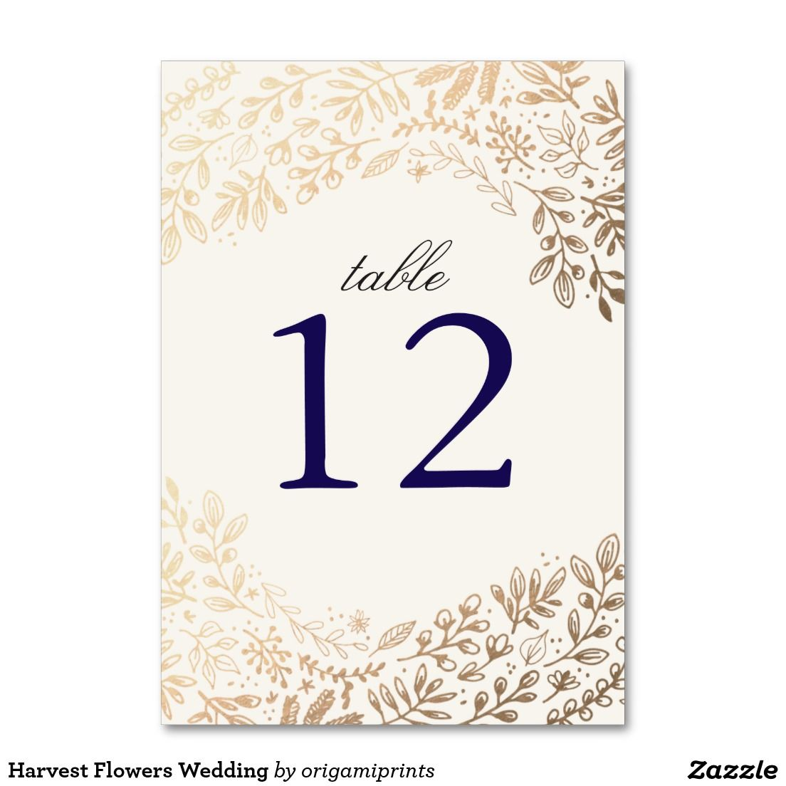 Your custom vertical table card wedding