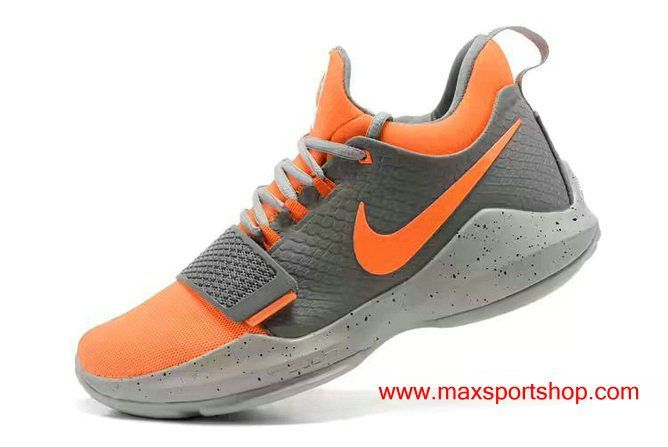 Nike PG1 id Bright Orange Grey Dots Mens Basketball Shoes