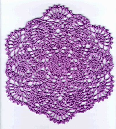 Crochet Pineapple Doily Patterns Pineapple Lavender Lace Doily