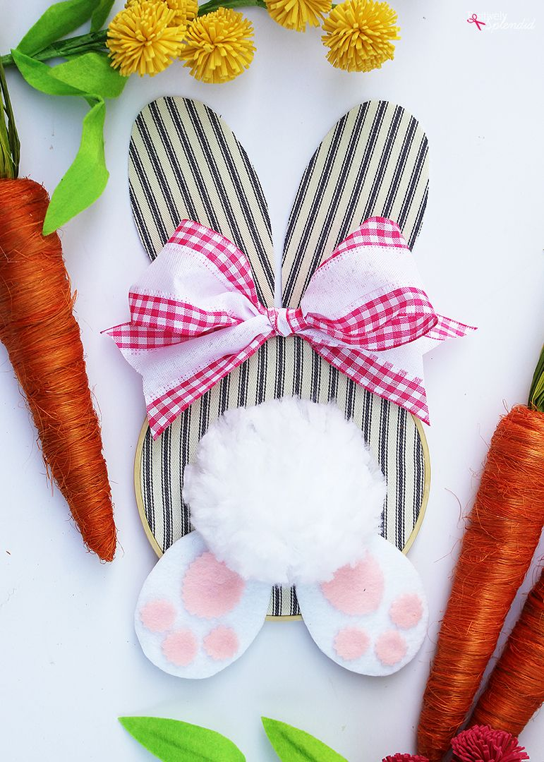 Photo of Embroidery Hoop Bunny Easter Wreath – Easy DIY Easter Crafts!