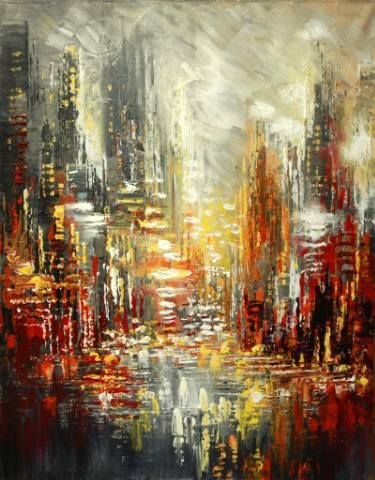 Nuits Blanches Painting Abstract Painting Acrylic Art