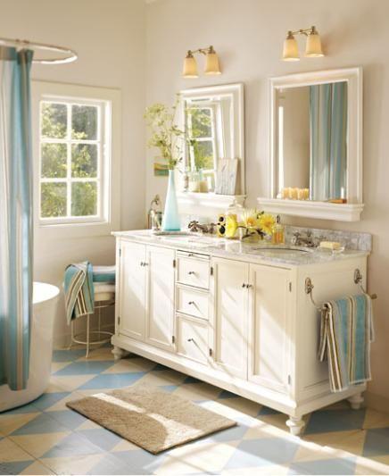 Bathroom Paint Colors In Graceful Design Makeover Colors Bathrooms Bathroom Colour Schemes: Benjamin Moore™ Paint Color: OC-59 Vanilla Milkshake