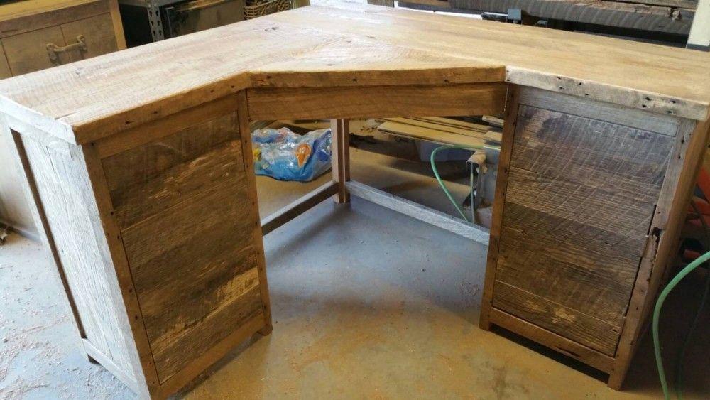 Build Wood Corner Desk Decorfurniture In 2019 Diy Wood Desk