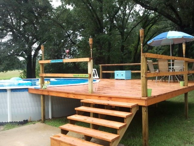 pool deck plans for above ground pools decks pinterest schwimmbecken pool im garten und. Black Bedroom Furniture Sets. Home Design Ideas