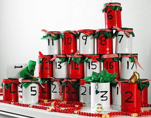 Mini make tin advent calendar with Plastikote spray paint Have a