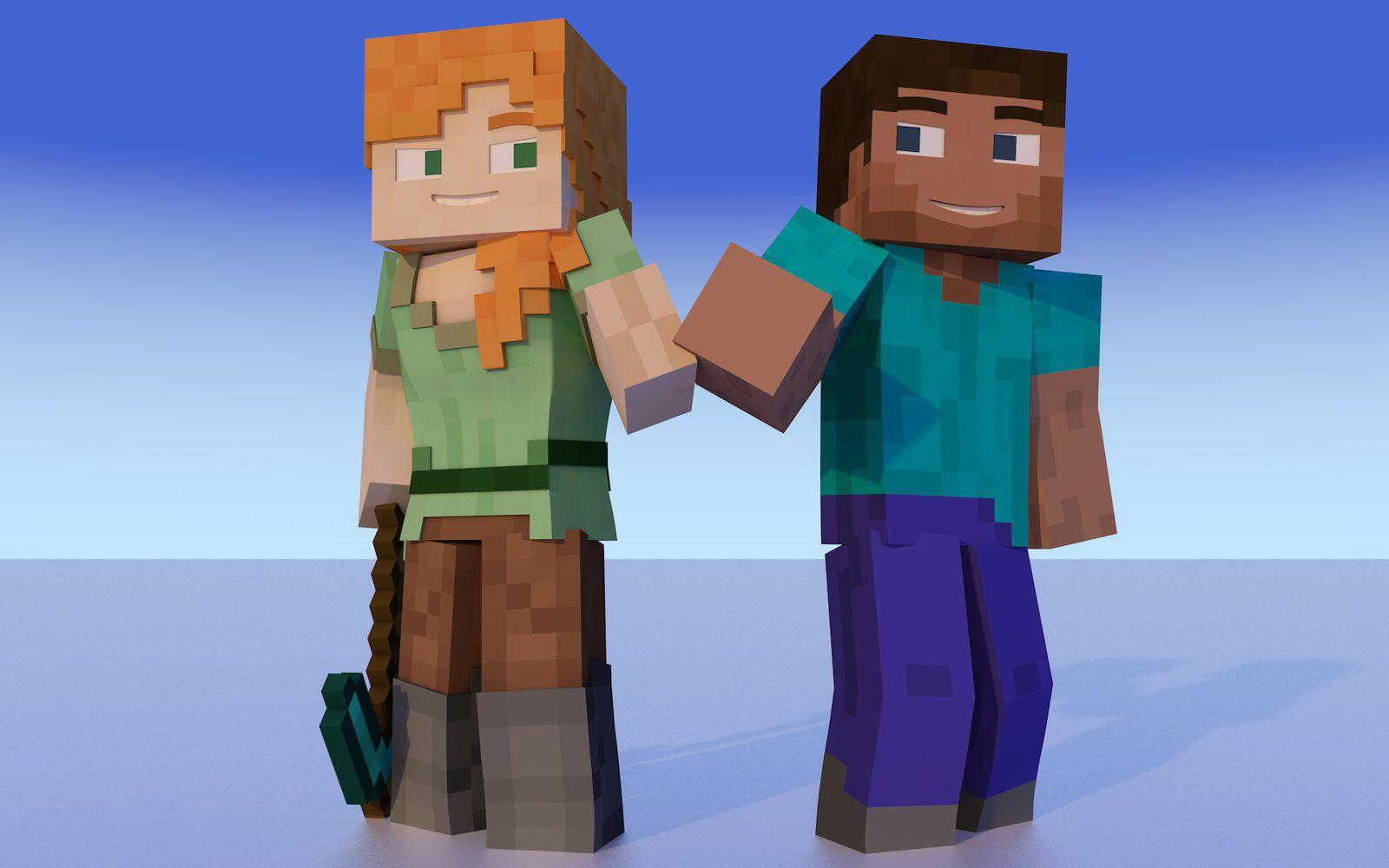 Alex And Steve Minecraft Minecraft Steve Minecraft Quilt