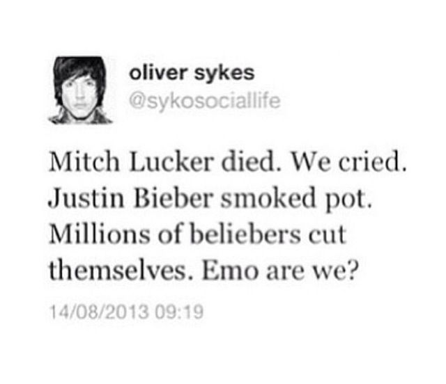'Emo', are we?