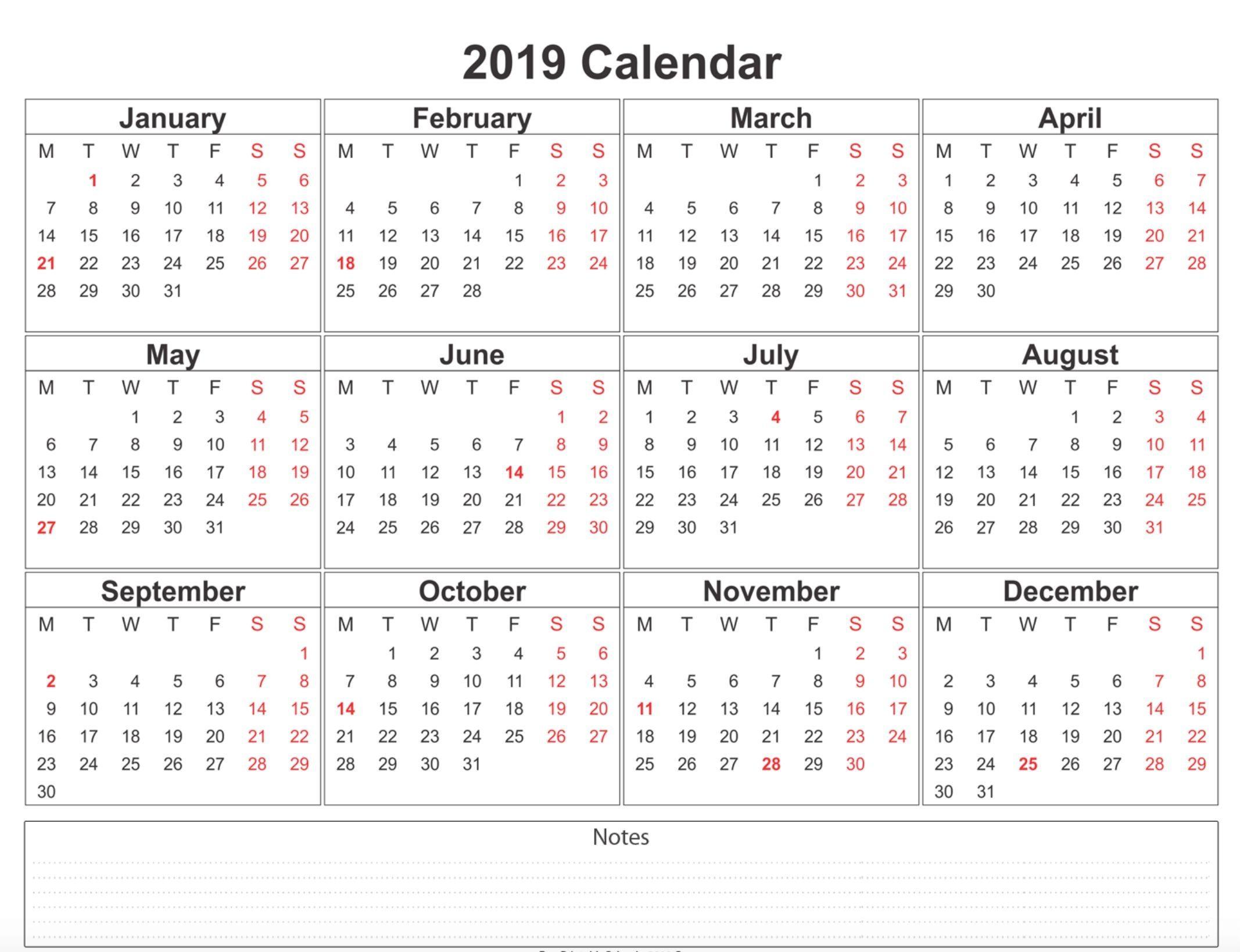 Weekly Calendar Printable