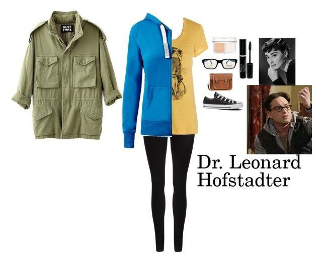 """""""Dr. Leonard Hofstadter"""" by charbear231 ❤ liked on Polyvore featuring Dr. Denim, Converse, NLST, Christian Dior, SocialEyes and The Cambridge Satchel Company"""