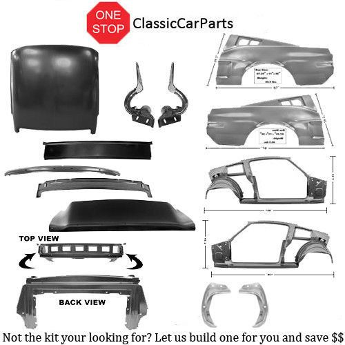 1968 Mustang Coupe To Fastback Conversion Kit Quarter Panel