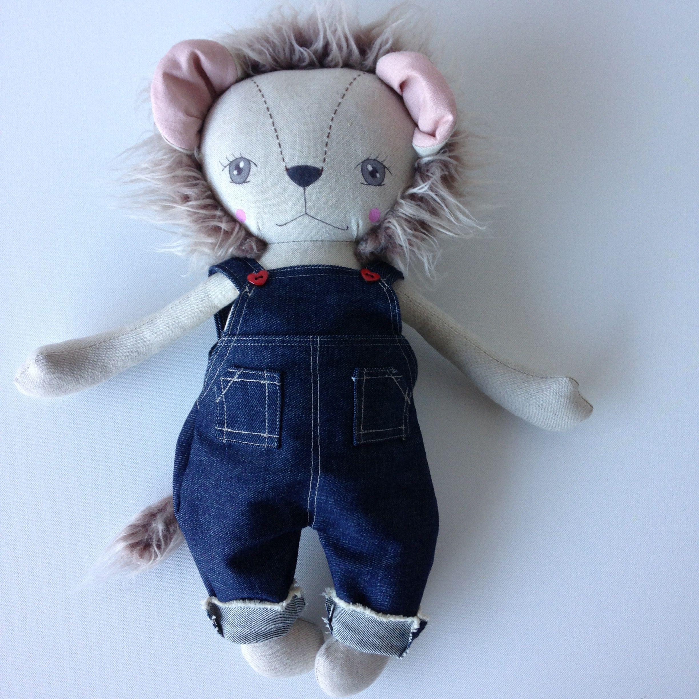 Handmade Lion Heirloom Doll by Peanut&Elliott