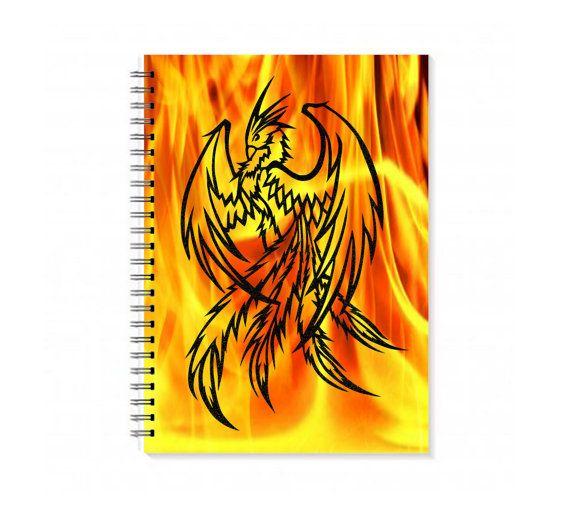 Phoenix Notebook - Phoenix Rising - Travel Journal - A5 notebook - Papercut illustration