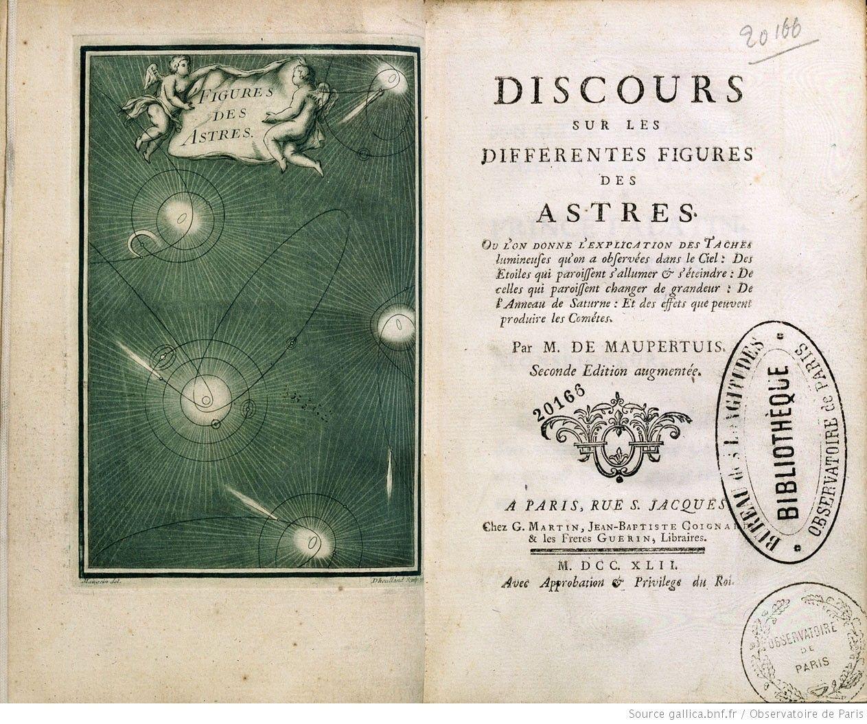 Frontispice illustrant le discours sur les différentes figures des astres. [Cote :90/244]