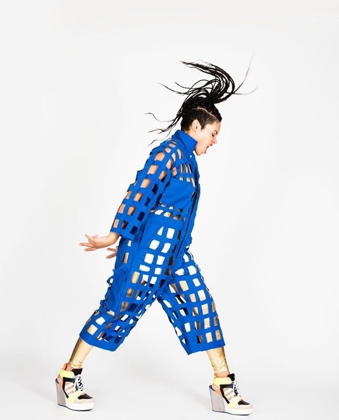 GRIDsuit from Studio HH worn by Sophia Urista, The Voice.